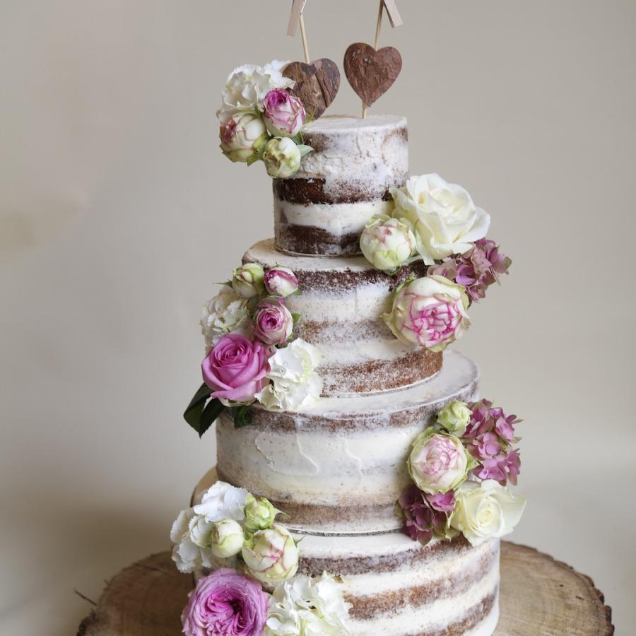 Art-Cake by Aline - Hochzeitstorte - Naked Cake